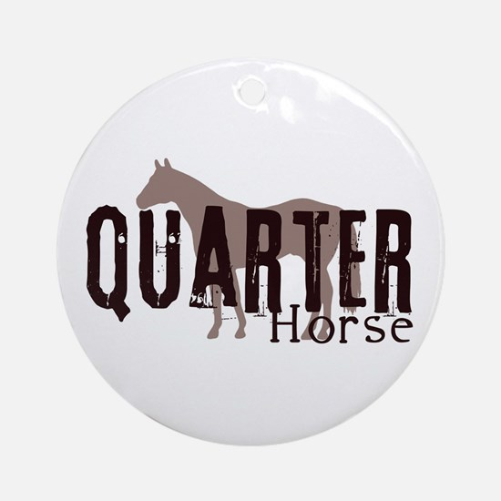 Quarter Horse Ornament (Round)
