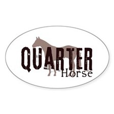 Quarter Horse Oval Decal