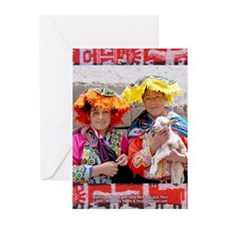 Two Women with Lamb - Greeting Cards (Qty: 6)