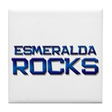 esmeralda rocks Tile Coaster