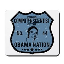 Computer Scientist Obama Nation Mousepad