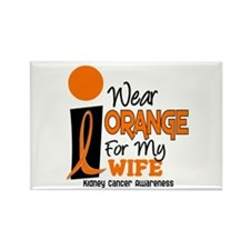 I Wear Orange For My Wife 9 KC Rectangle Magnet