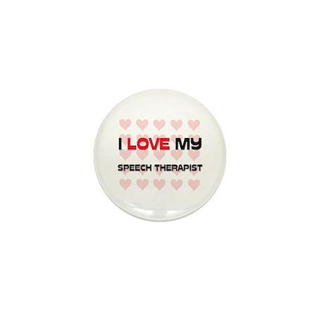 I Love My Speech Therapist Mini Button