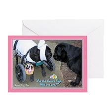 Easter Puggy & Skeptic Greeting Card