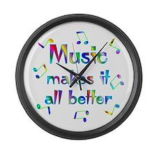 Music Large Wall Clock