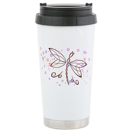 Dragonfly Daydream Stainless Steel Travel Mug