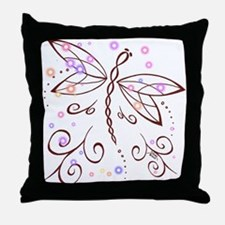 Dragonfly Daydream Throw Pillow