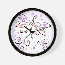 Dragonfly Daydream Wall Clock