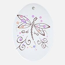 Dragonfly Daydream Ornament (Oval)