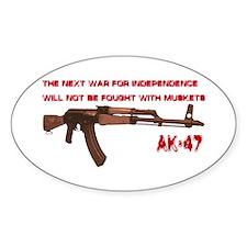 AK-47 Oval Decal
