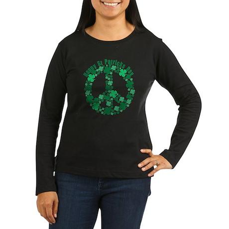Happy St Patricks Day Women's Long Sleeve Dark T-S
