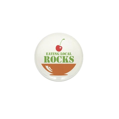 Eating Local Rocks Mini Button