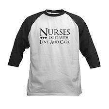 Black and White Nurses Care Tee