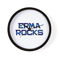 erma rocks Wall Clock