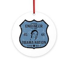 Engineer Obama Nation Ornament (Round)