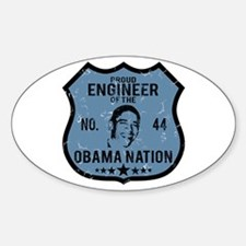 Engineer Obama Nation Oval Decal