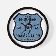 Engineer Obama Nation Wall Clock