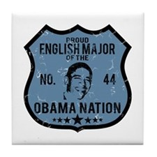 English Major Obama Nation Tile Coaster