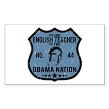 English Teacher Obama Nation Rectangle Decal