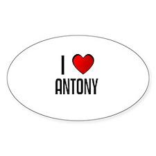 I LOVE ANTONY Oval Decal