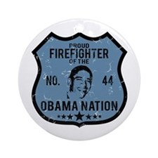 Firefighter Obama Nation Ornament (Round)