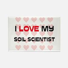 I Love My Soil Scientist Rectangle Magnet