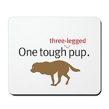One Tough 3-legged Pup. Mousepad