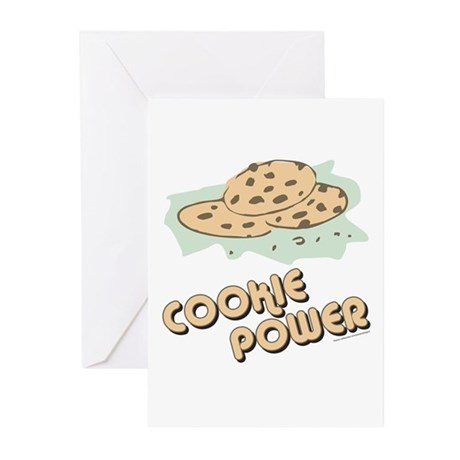 Cookie Power-2 Greeting Cards (Pk of 10)