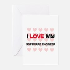 I Love My Software Engineer Greeting Cards (Pk of