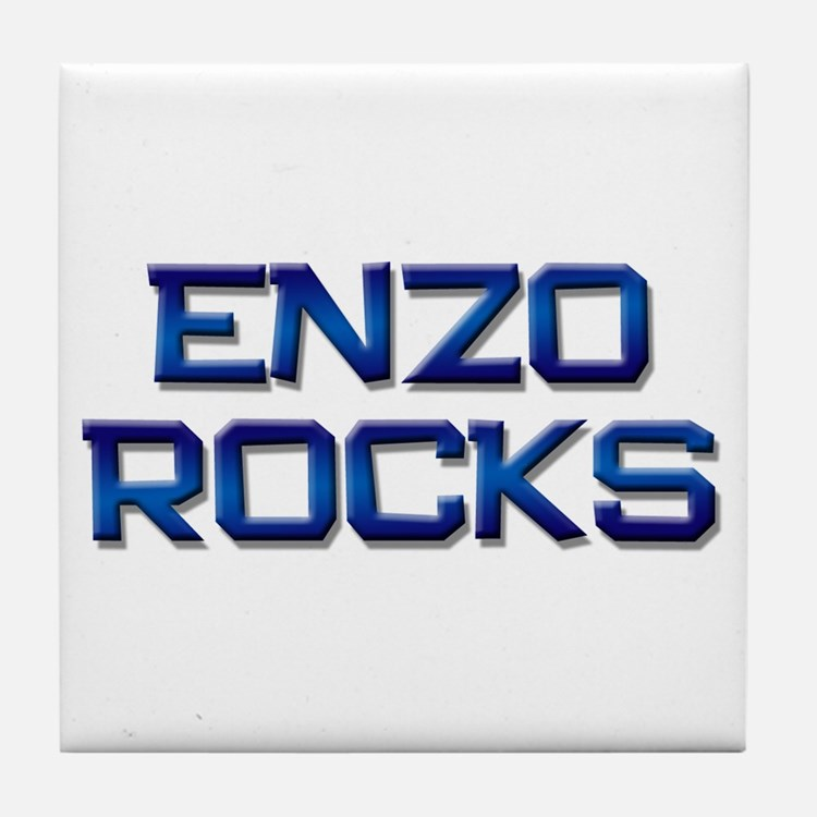 enzo rocks Tile Coaster