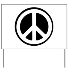 Peace Sign Yard Sign