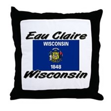 Eau Claire Wisconsin Throw Pillow