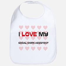I Love My Social Work Assistant Bib