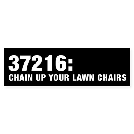 Chain Up Your Lawn Chairs