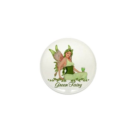 Absinthe - The Green Fairy Mini Button (10 pack)