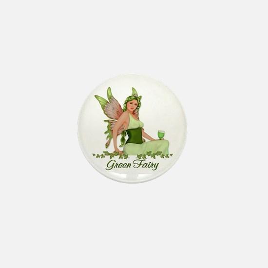 Absinthe - The Green Fairy Mini Button