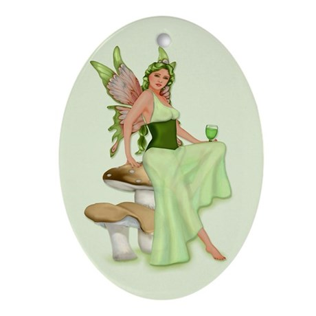 Absinthe - The Green Fairy Oval Ornament