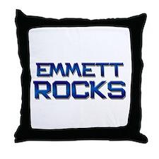 emmett rocks Throw Pillow