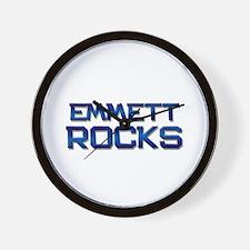 emmett rocks Wall Clock