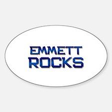 emmett rocks Oval Decal