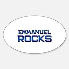 emmanuel rocks Oval Decal