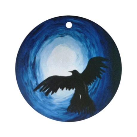 Flying Crow Ornament
