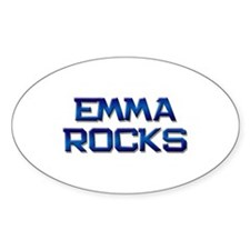 emma rocks Oval Bumper Stickers