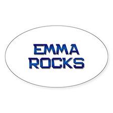 emma rocks Oval Decal