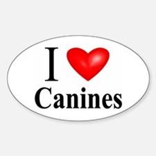 Canines Oval Decal