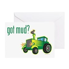 Tractor Pull Race Greeting Card