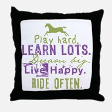 Horse Lover Throw Pillow