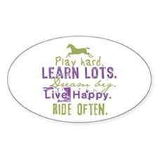 Horse Lover Oval Decal