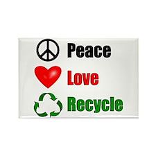 Peace... Rectangle Magnet