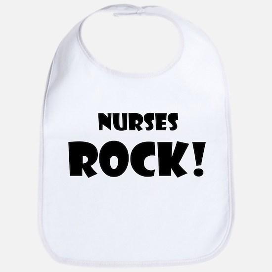 Black and White Nurses Rock Bib